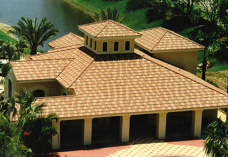 Simulated Tile Metal Roof