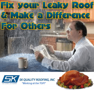 Repair your leaky roof and make a difference for others